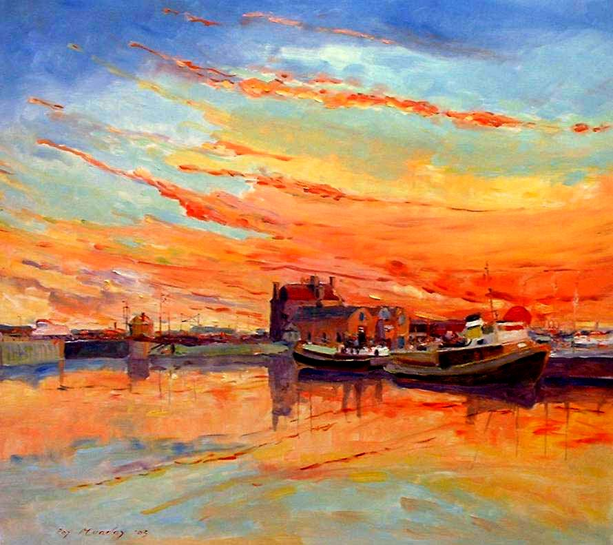 painting of the albert dock, liverpool, merseyside, beginners art class