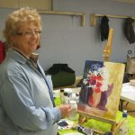 artclasses near me, a members painting in our art class, at Lydiate, learning how to draw and paint, on merseyside, sefton
