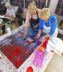 learn to draw and paint, adults, in art class, at lydiate, liverpool, merseyside