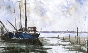 watercolour classes, demonstration by artist roger jenkins, sefton artists, sefton art group, merseyside