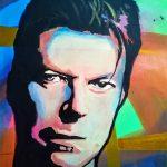 portrait of David Bowie, by Frank Clarke, sefton art group, merseyside
