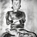 charcoal drawing, sefton art group