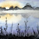 watercolour by artist, sefton art group, Lydiate, merseyside