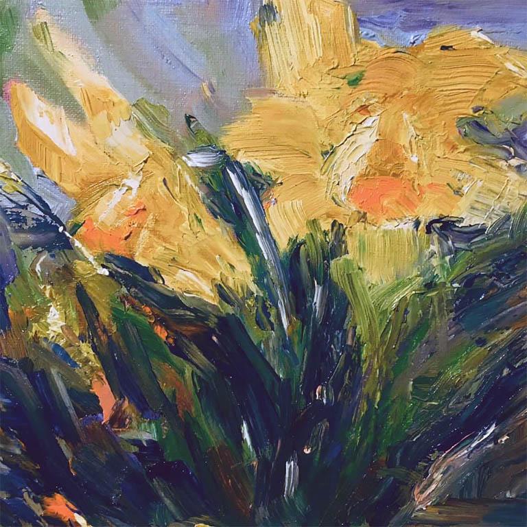 flower painting by Varsha, member sefton art group,hightown art class, liverpool, merseyside