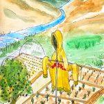 painting of Alison's garden, sefton art group, merseyside