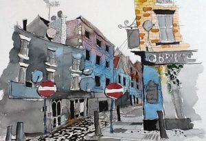watercolour painting, member of the sefton art group, beginners watercolour class, near me, merseyside