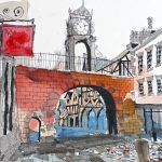 watercolour painting of chester, cheshire, art class, beginners, liverpool, southport, merseysdie