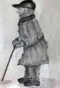 charcoal drawing, done by sefton art group, hightown, merseyside