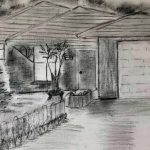 charcoal drawing, done by sefton art group, hightown, liverpool, merseyside