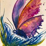 watercolour class, atkinson art centre, southport, merseyside