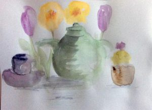 watercolour painting, member of the sefton art group, merseyside,
