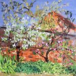 painting of a garden, sefton, art class, southport, merseyside, liverpool