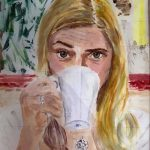 Lydiate evening art class, portrait by Susan Skinner