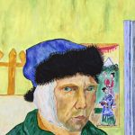 painting of Van Gogh, by terry