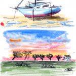 Ipad art work, member of the sefton art group, lydiate, merseyside