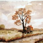 watercolour by Peter Brown, sefton art group, liverpool, southport, sefton, merseyside,