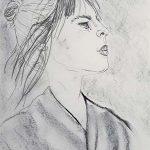 portrait, drawing, sefton art class, beginners online art course, near me, southport, liverpool, merseyside,