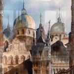 watercolour painting, member sefton art group, hightown, sefton, merseyside,