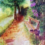 watercolour art class, for beginners, southport, sefton, atkinson art centre, merseyside