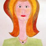 was inspired by a work of Picasso, sefton art group, learn on line, art, art classes,