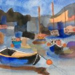 beginners watercolour class, atkinson art centre, southport, merseyside,