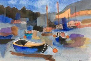 beginners watercolour class, atkinson art centre, southport, merseyside,