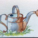 pen & ink, watercolour, art class atkinson art centre, southport, sefton, merseyside,