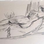 life drawing exercise, BBC4 tv programme, live life drawing class, merseyside