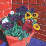 painting of a flower pot, art class, classes, liverpool, formby, lydiate, merseyside