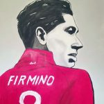 firmino, liverpool football club, painting, sefton art group, art classes, online art classes, liverpool, merseyside