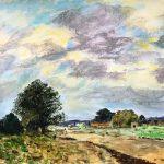 version of edward Seago's painting, landscape, beginneers art class, hightown, sefton, merseyside,