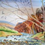 watercolour painting, sefton art group, atkinson art centre, southport, merseyside,