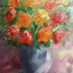 flower painting, sefton art group, maghull, southport, liverpool, merseyside,