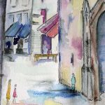 watercolour painting, online art class, southport, maghull, liverpool, merseyside,
