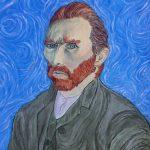 painting of vincent van gogh, sefton art class,beginners, art classes, online,