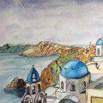 learn watercolours, beginners watercolour, art classes, online, zoom art class, liverpool, merseyside,