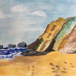 watercolour class, online art course, art class, beginners art class