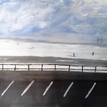 painting of crosby beach, liverpool, merseyside, online art course, for beginners,