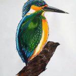 ink painting, bird, sefton art group, beginners art class, near me, online art course, zoom art class,