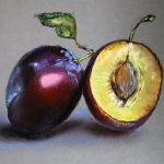 pastel drawing, plums, art class, online art classes, near me, liverpool, sefton, maghull, aintree, wirral,