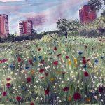 painting of liverpool, merseyside, art class online, beginners art class,