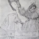 drawing, portrait, by sefton art group, atkinson art center, liverpool, merseyside, southport, online drawing course,