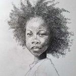 portrait drawing, atkinson art centre, southport, merseyside,