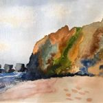 watercolour class, hightown, southport, liverpool, merseyside, online art classes,