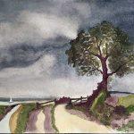 watercolour painting, member beginners art class, sefton art gorup, merseyside,