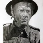 A4 graphite drawing. John Mills. From the 1958 film Dunkirk.