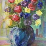 flower painting, online art course, liverpool, southport, merseyside,