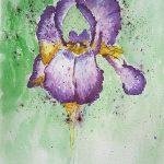 watercolour painting, done on a zoom art class, artclasses, merseyside, beginners art class