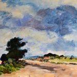 acrylic landscape painting, learn acrylics, art class for, beginners, online art class, near me, merseyside,