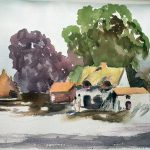 learn watercolour painting, zoom online art class, southport, merseysidde,